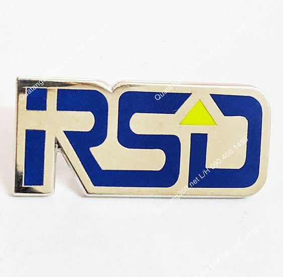 Huy hiệu đúc hình logo mạ bạc