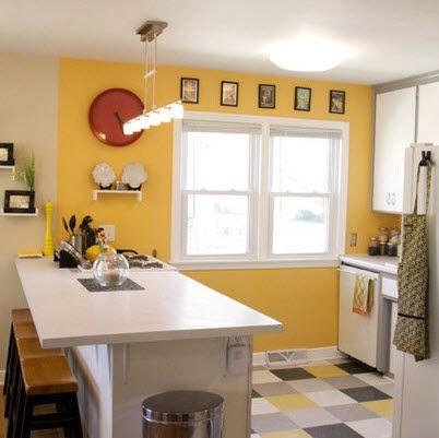 Dise o de peque a cocina con pisos de colores cocina for Disenos de pisos para cocina