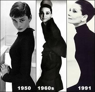 Audrey in black.