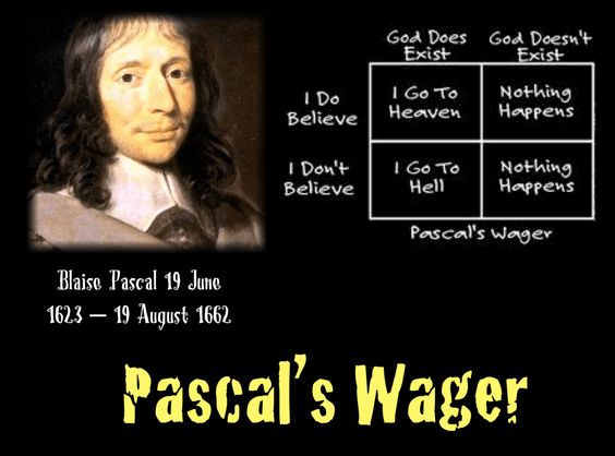 All Bets Are On God! Pascal's Wager By Vinnie MacIsaac French philosopher, mathematician, and physicist Blaise Pascal presented to the world philosophical simplistic mathematical bases…