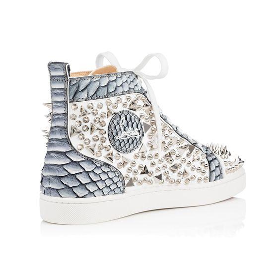 faux christian louboutin shoes - Louis Pik Pik Men's Flat White/Silver Python - Men Shoes ...