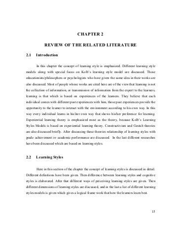 related review literature thesis