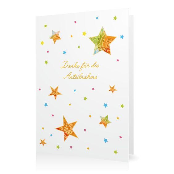 Dankeskarte Land der Sterne in Weiss - Klappkarte hoch #Trauer #Danksagungskarten #Foto #modern https://www.goldbek.de/trauer/danksagungskarten/dankeskarte-land-der-sterne?color=weiss&design=828dd&utm_campaign=autoproducts