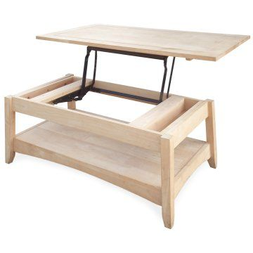 LOVE this for a coffee table...great for bringing up to you while chilling on the couch. Love that it's open for staining also!