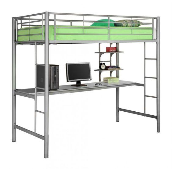 Esta moderna cama con colch n ergon mico de 4 tiene un for Medidas de un colchon twin