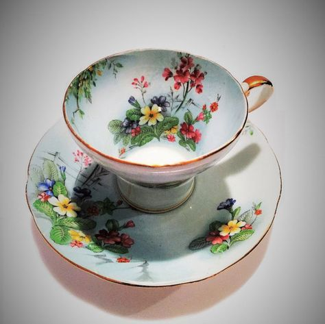 Beautiful Aynsley Teacup and Saucer Tea cup by OneStopSteamShoppe