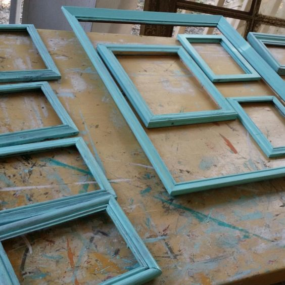 Painting frames for fabulous wall decor!