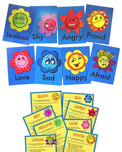 Emotional Development Toys For Toddlers : Flower feelings kit emotional development