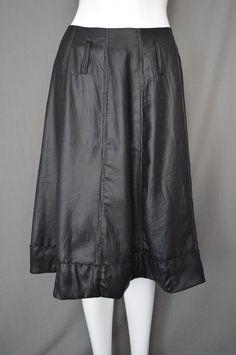 People Like Frank Faux Leather Lame A-line Rare Skirt Black #Alineskirt #boutique #pleather #vegan