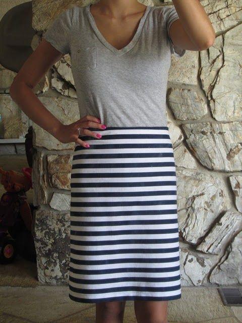 DIY pencil skirt