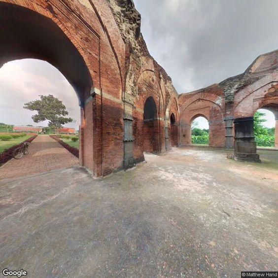 streetview image of Tantipara Masjid Mihrab c1480 (ঐতিহাশিক বঙ্গ রাজধানি গৌড়ের তাঁতীপাড়া মসজিদ, স্থাপিত ১৪৮০খৃ)