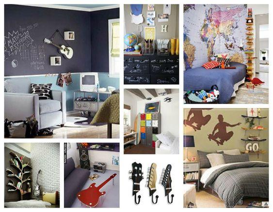 Ideas para decorar el cuarto de adolescentes varones - Decoraciones para paredes ...