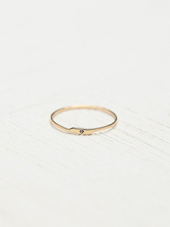 Free People Etched Letter Ring, $128.00