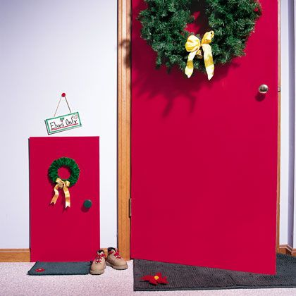 An elves only entrance so cute would also be cute to for Elf door and elf