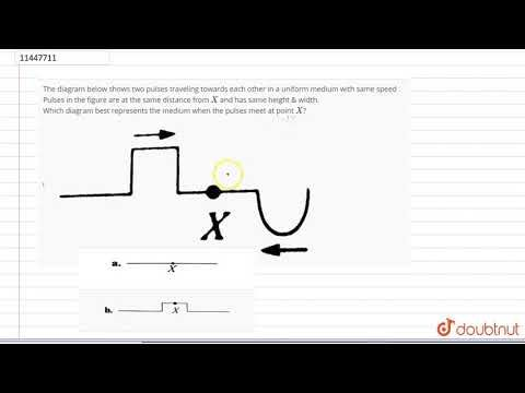 Pulses Travel Toward Each Other The Diagram Below Shows Two Pulses Traveling Towards Each Other In A Uniform Medium With Same Sp