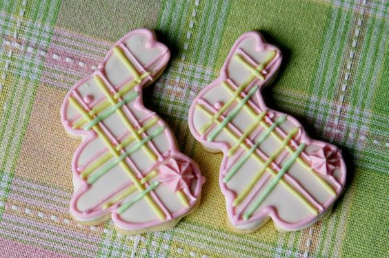 Easter Bunny Plaid Cookies