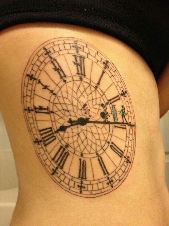 Peter Pan clock tattoo, Big Ben and Peter Pan tattoo ...