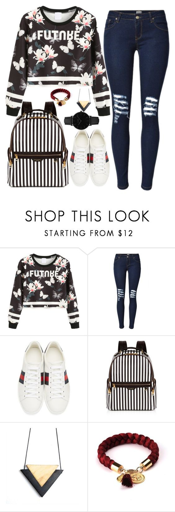 """Future me"" by cecilialukas ❤ liked on Polyvore featuring Gucci, Henri Bendel and CLUSE"