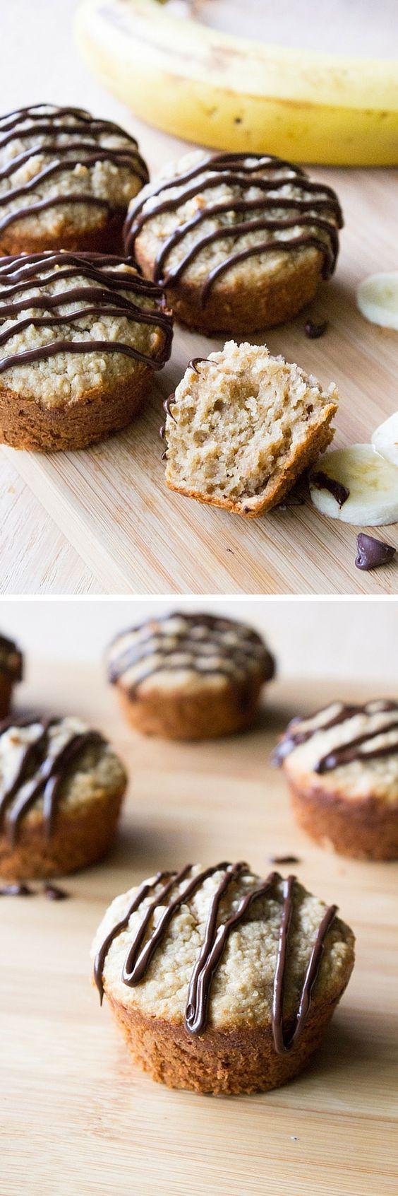 peanut butter muffins glaze butter bananas healthy peanut butter ...