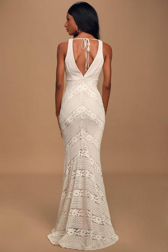 Alianna White Lace Mermaid Maxi Dress In 2020 Lace White Dress Dresses Elegant Dresses For Women