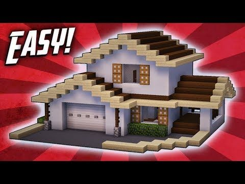 Minecraft How To Build A Large Modern House Tutorial 22 Youtube Easy Minecraft Houses Minecraft House Tutorials Minecraft Modern