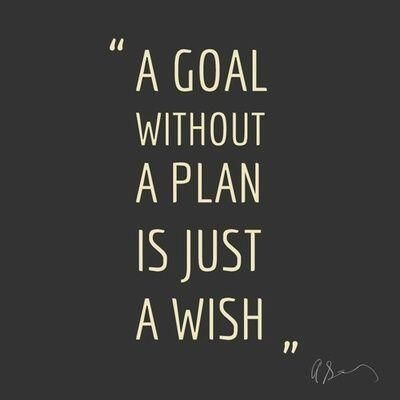 """""""A goal without a plan is just a wish"""""""