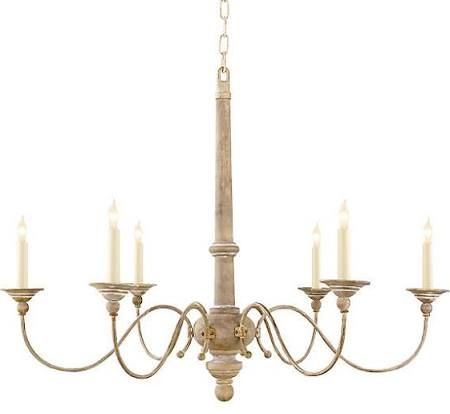 Belgian White Visual Comfort French Country chandelier