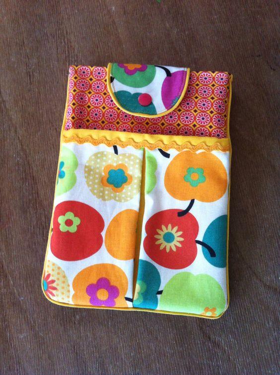 Ipad mini Tasche mit Reißverschlusstasche hinten, nach dem Tuto von modage