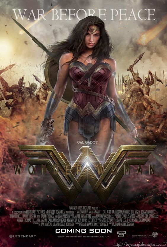 Gal Gadot Wonder Woman Movie Poster by Bryanzap: