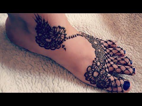 نقش حناء للرجلين هندي رائع و خغيف للمناسبات على شكل شبكة Moroccan Henna Youtube Hand Henna Henna Hand Tattoo Hand Tattoos