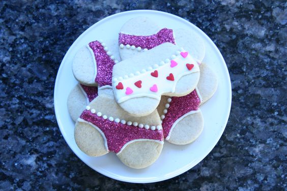 Glitter panty sugar cookies