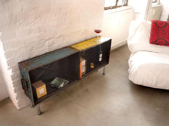 Sideboards - Industrial Sideboard, Lowboard, Loft, Eisenregal - ein Designerstück von PRACHTWORKS bei DaWanda