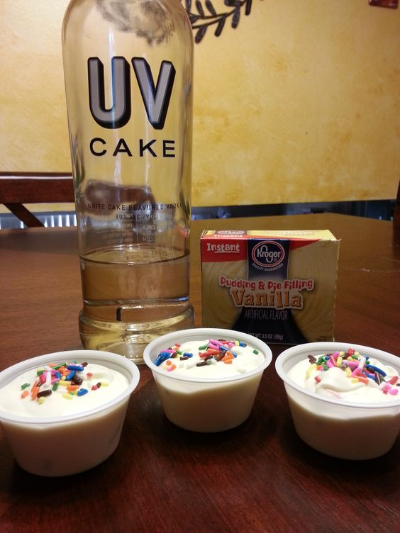 BIRTHDAY CAKE PUDDING SHOTS 1 small pkg. vanilla or french ...