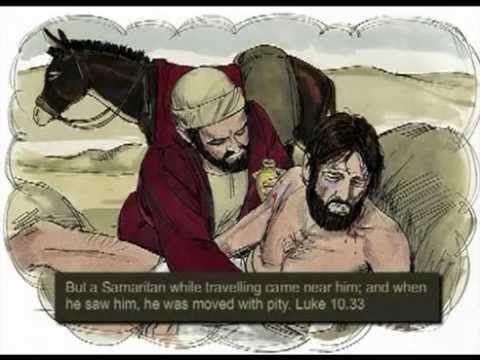Teaching The Parable Of The Good Samaritan - The Holy Spirit Beaten Left...
