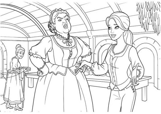 Barbie and Three Musketeers. Barbie coloring page.205