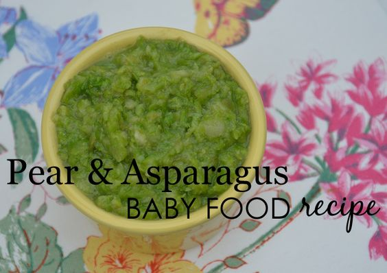 Pear and Asparagus Baby Food Recipe from @sagespoonfuls - #babyfood