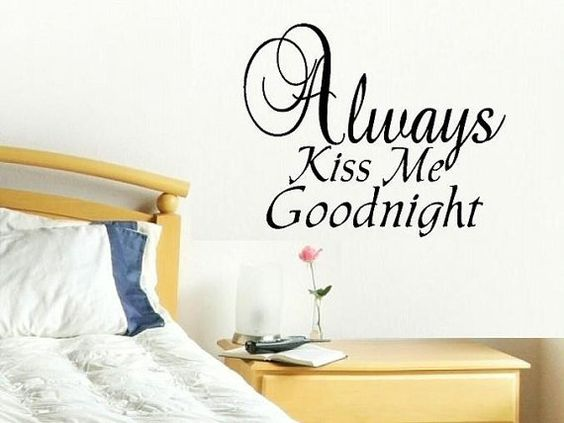 vinyl wall decal quote Always Kiss Me por WallDecalsAndQuotes