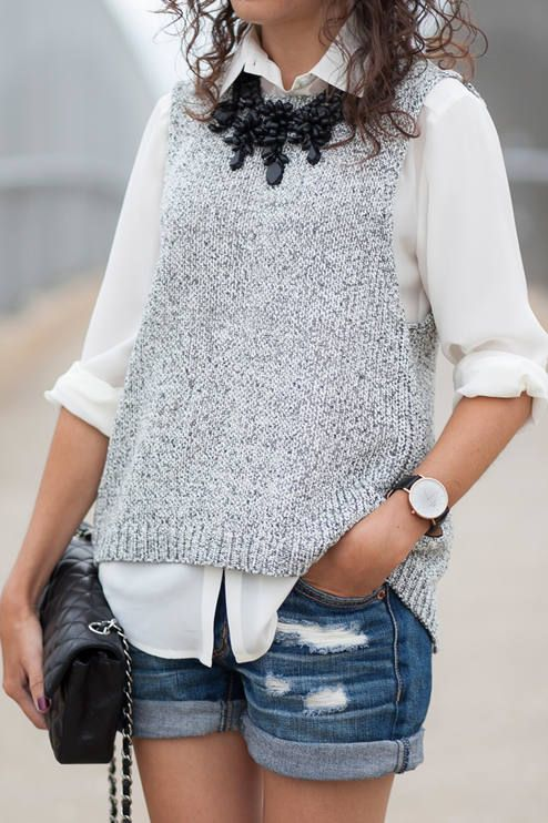 Bec And Bridge Grey Open Back Crop Knitted Tank: