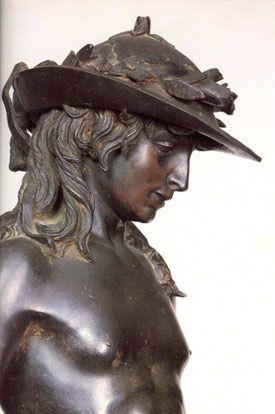 Donatello's bronze David - Bargello Palace, Florence, Italy