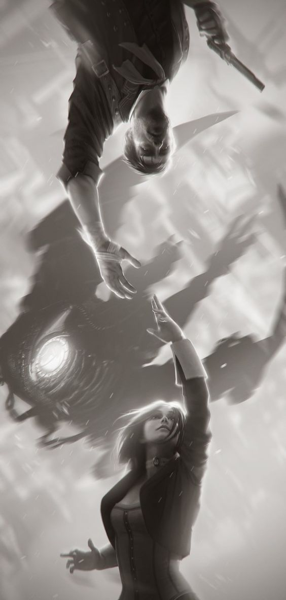 Wow, this is awesome. Booker & Elizabeth by Alex Charleux - Bioshock Infinite