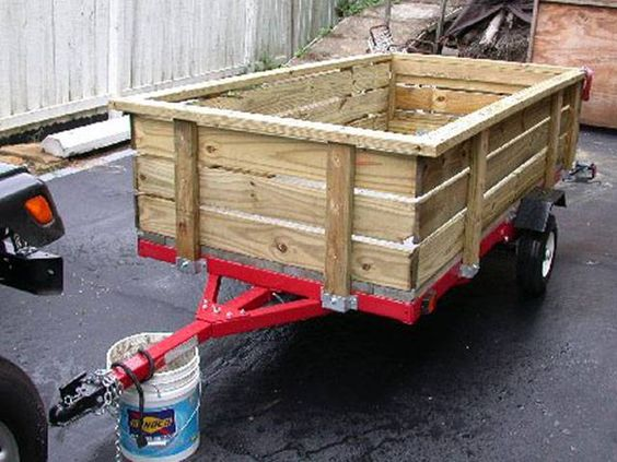 Harbor Freight Utility Cart >> Folding Utility Trailers, Trailer Kits, Parts and Accessories - RedTrailers.com | WOODSHOP ...