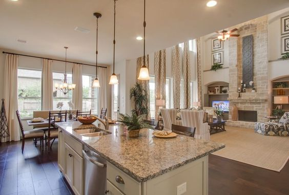 XOXO Open Concept Dining Area Kitchen Two Story