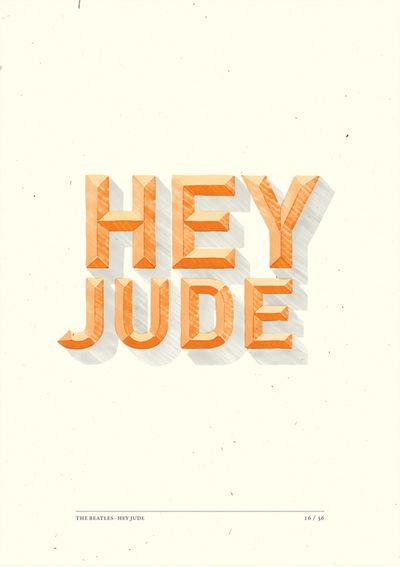 Hey Jude by Stefano Agabio, via Behance