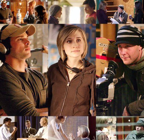 Actors Tom Welling (Clark Kent), Allison Mack (Chloe