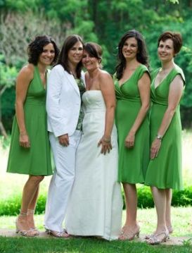 bride with bridesmaid Lesbian