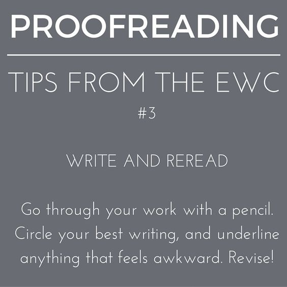 Put pencil to paper while #proofreading. #writingtips #writingcenter #writingaroundemory