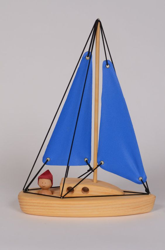 Tall Wooden boat by LAtelierChevaldeBois on Etsy