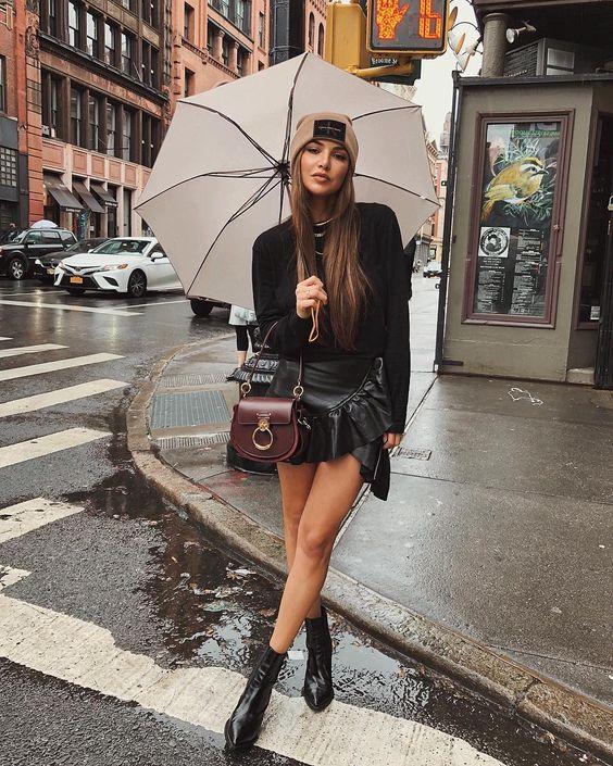 Spotted on the Streets: Zo trotseer je de regen in style