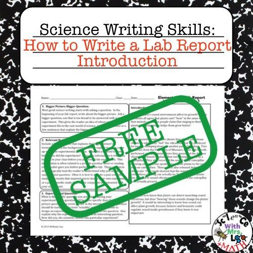 Science Sentence Frames - lab report format differentiation for