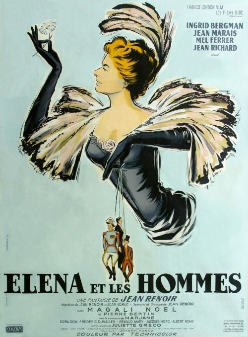 Elena and Her Men (1955) d. Jean Renoir (movie from France/ poster from France)